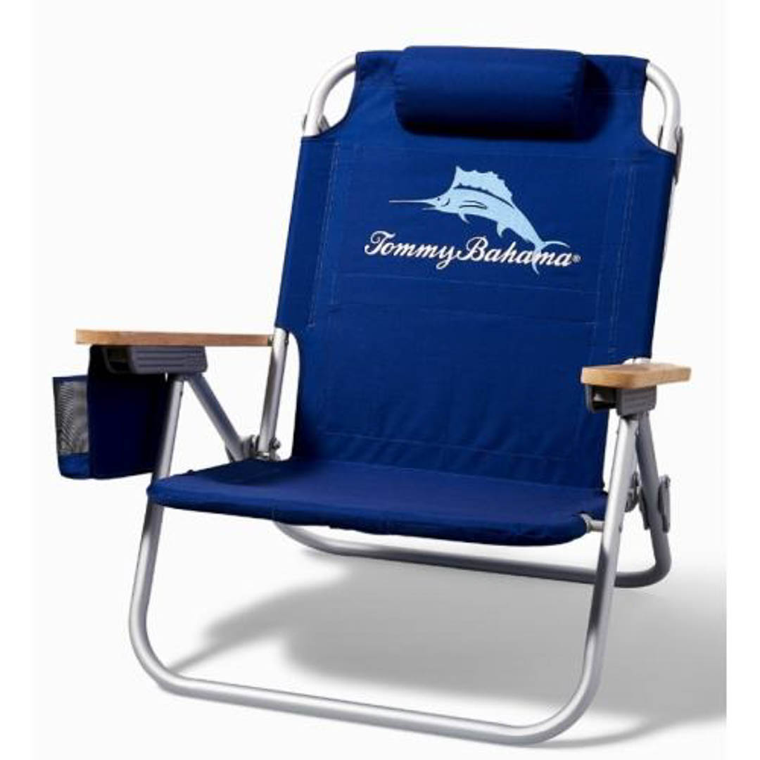 Tommy Bahama Beach Chair with cooler and backpack
